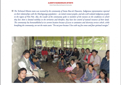 Newsletter – Peru: Manu National Park (Field Missions – Coord. Indigenous Affairs)