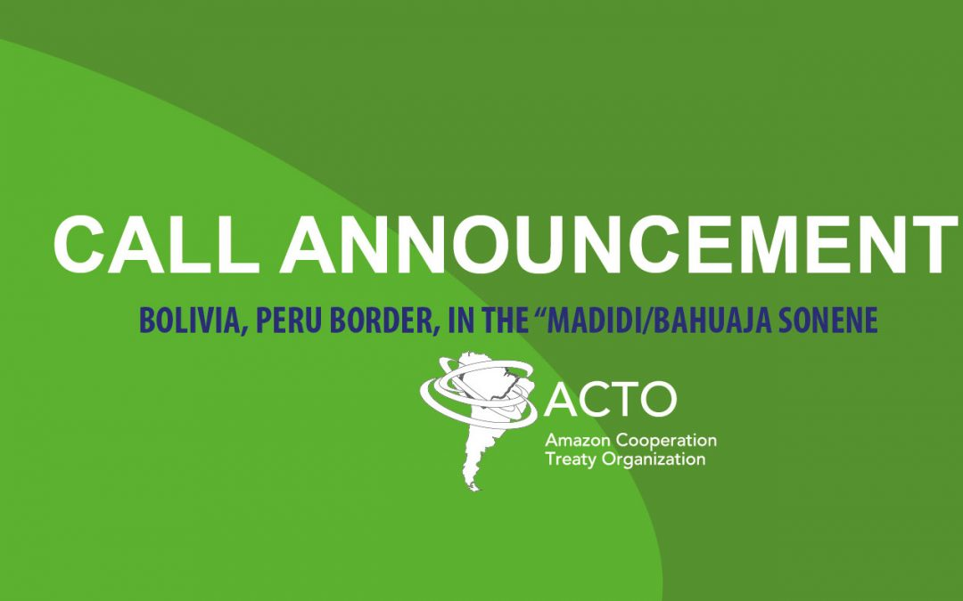 """ACTO hires of consultancy for the preparation of reports on the analysis of the health situation of indigenous peoples: Bolivia, Peru Border, in the """"MADIDI/BAHUAJA SONENE"""
