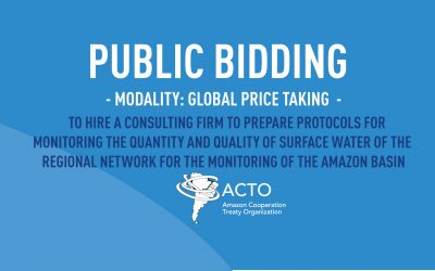 ACTO hires consulting firm to prepare protocols for monitoring the quantity and quality of surface water