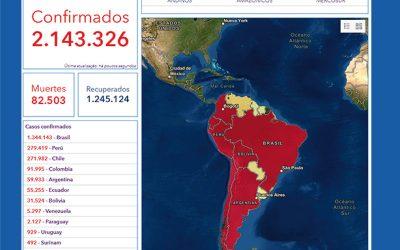 Visualização das informações da COVID-19 nos países amazônicos no âmbito de um esforço conjunto entre a OTCA e a OPAS-SAM