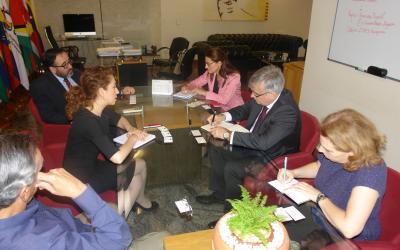 Embaixador da União Européia no Brasil reúne-se com Secretário-Geral da OTCA
