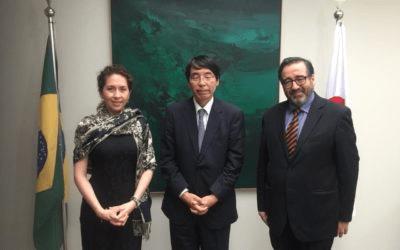 Embaixador do Japão Akira Yamada recebe Secretária-Geral da OTCA