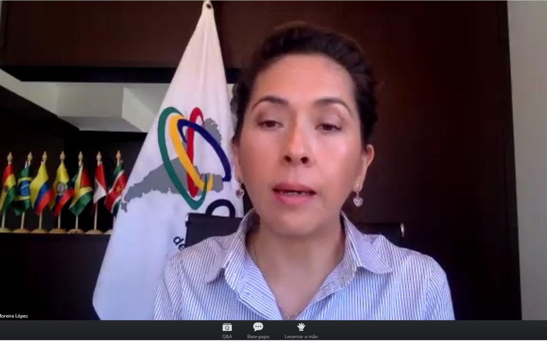Alexandra Moreira destaca la cooperación transfronteriza de la Región Amazónica en foro