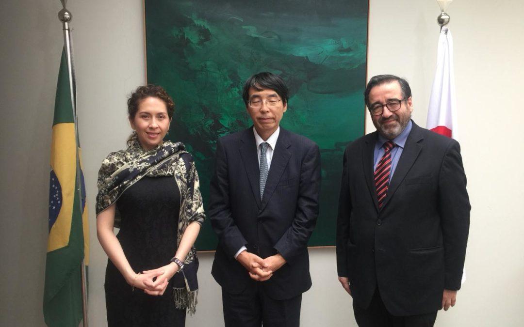Embajador de Japón Akira Yamada recibe a la Secretaria General de la OTCA