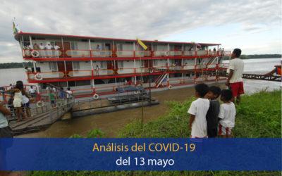 Análisis del impacto del coronavirus covid-19 en la Región Amazónica (13 de mayo)