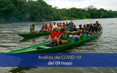 Análisis del impacto del covid-19 en la Región Amazónica (09 de mayo)