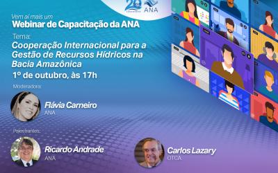 Webinar sobre cooperación internacional para la gestión de los recursos hídricos na Cuenca Amazónica