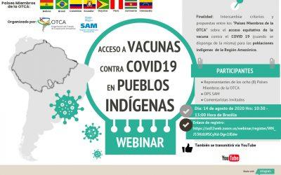 Webinar sobre el acceso a vacunas contra Covid-19 en pueblos indígenas