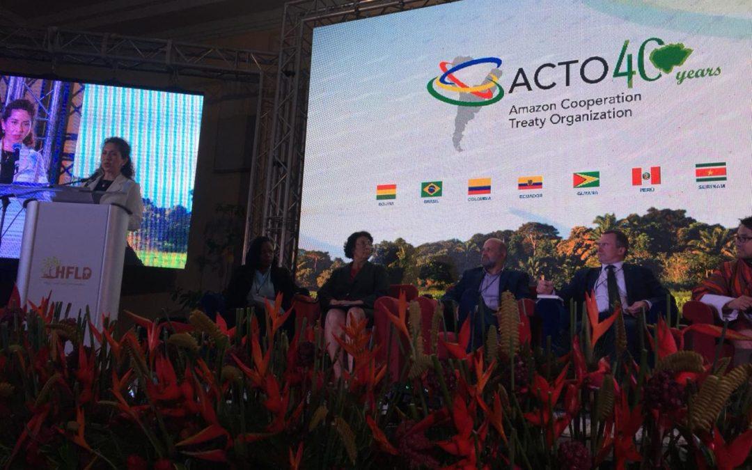 Secretaria General de la OTCA participó en Surinam de la conferencia internacional sobre financiamiento climático (naciones HFLD)