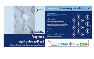 FIOCRUZ Abre inscripciones para el Programa Educacional de Vigilancia en Salud en las Fronteras