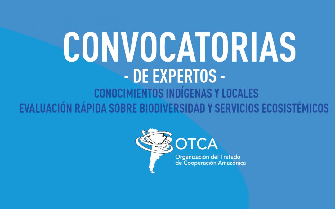 Convocatoria para selección de expertos en conocimientos indígenas y locales