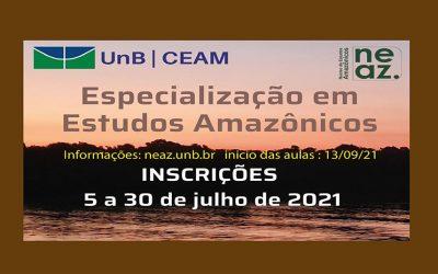 Están abiertas las inscripciones para el curso de posgrado Lato Sensu en Estudios Amazónicos de la Universidad de Brasilia