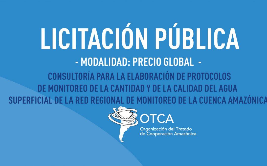 Contratación de empresa para elaborar protocolos de monitoreo de cantidad y calidad del agua superficial de la Red Regional